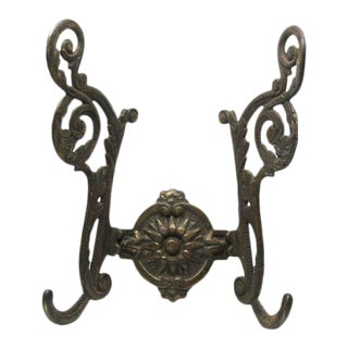 Large Bronze Ornate Hall Tree Hook