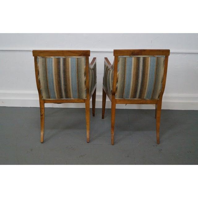Antique Italian Walnut Klismos Arm Chairs - Pair - Image 4 of 9