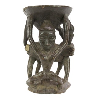Chipo African Carved Stool