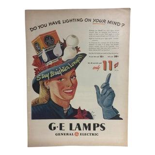 Vintage GE Lamps Ad