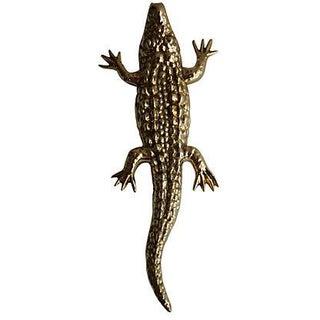 Solid Brass Alligator Door Knocker