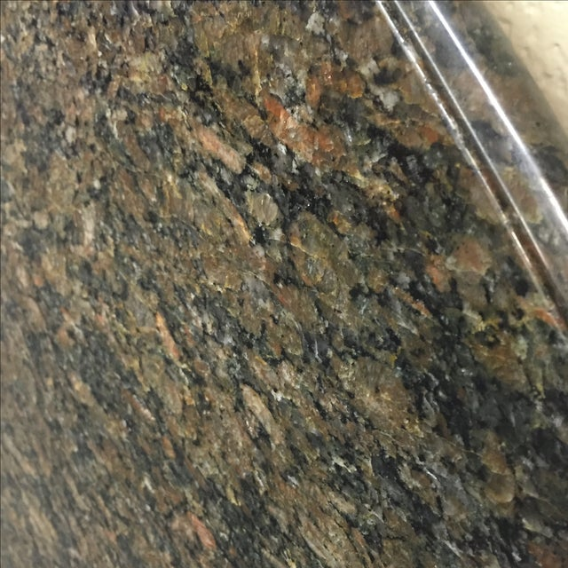 "Beveled Black Granite 48"" Round - Image 7 of 8"