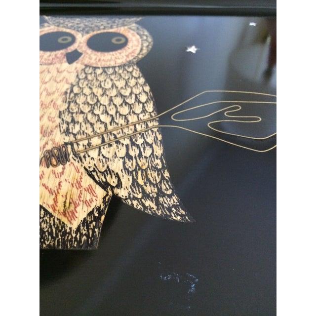 Image of Mid-Century Owl Couroc Tray