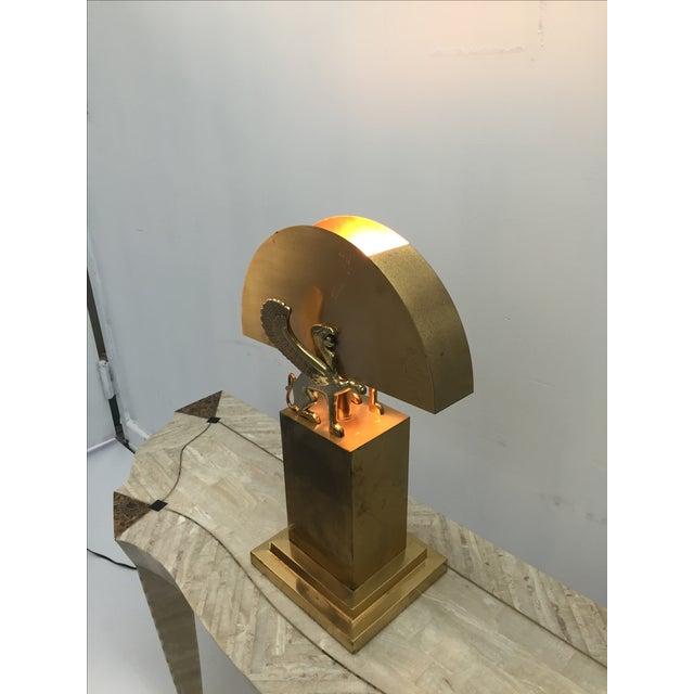 Rare Custom Lamp in the Manner of Karl Springer - Image 6 of 9