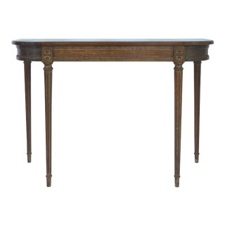 Mahogany Console w/ Fluted Legs