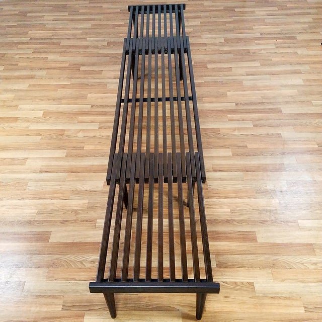 Brown Saltman Slat Bench - Image 3 of 10