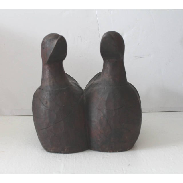 Pair of Hand-Carved Wood Folk Art Ducks - Image 8 of 10