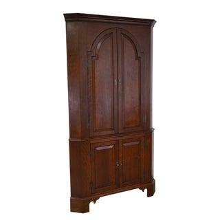 Bench Made Cherry Blind Door Corner Cabinet