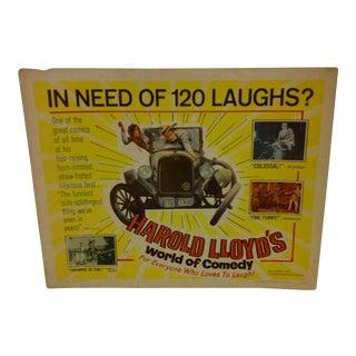 "Vintage ""Harold Lloyd's World of Comedy"" 1962 Movie Poster"