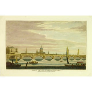 Waterloo Bridge Print, London Engraving