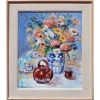 Flower Vase & Teapot Still Life Painting