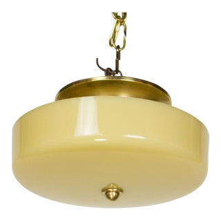 Custard Glass Semi Flush Light