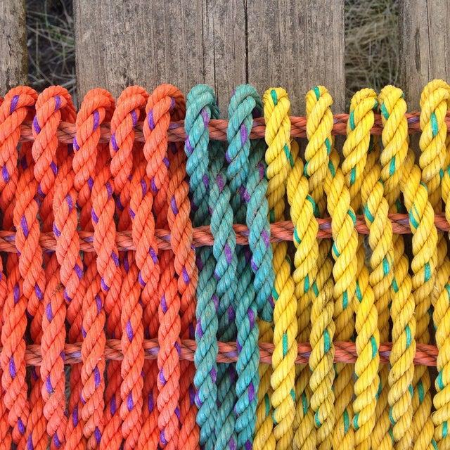 """Recycled Lobster Rope Doormat """"Peaks"""" - 1'7"""" x 2'10"""" - Image 3 of 5"""