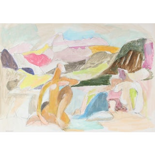Figures in a Pastel Landscape by Gerald Wasserman