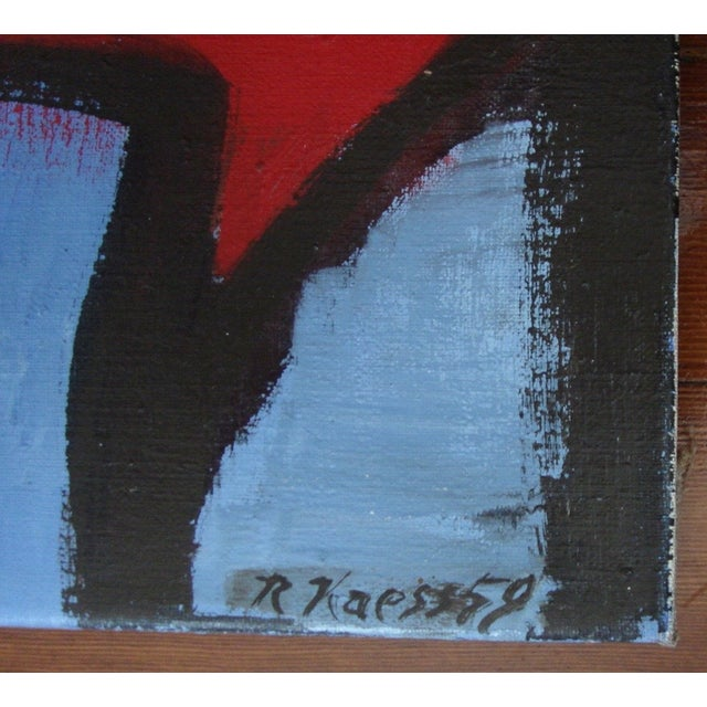 Image of 1959 Abstract Expressionist Oil Painting, R. Kaess