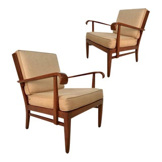 Stunning Pair of Sleek Armchairs by Willhelm and Walter Knoll for Knoll Antimott