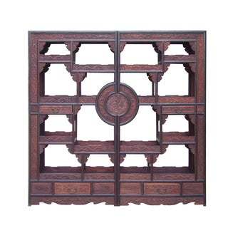 Chinese Rosewood Display Curio Cabinets - A Pair