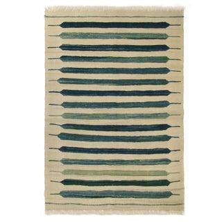 Rug & Relic Blue-Green Flatweave Yeni Kilim - 3'4 x 4'9