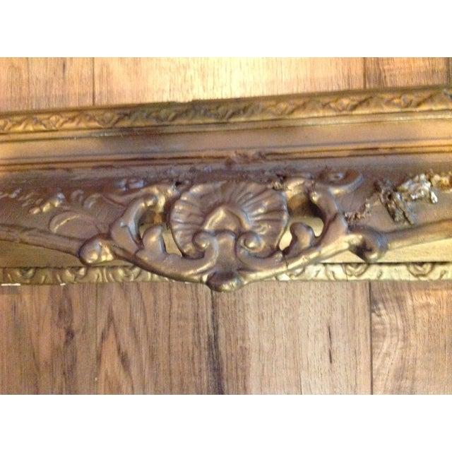Antique Wood Hollywood Regency Large Frame Victorian - Image 5 of 11