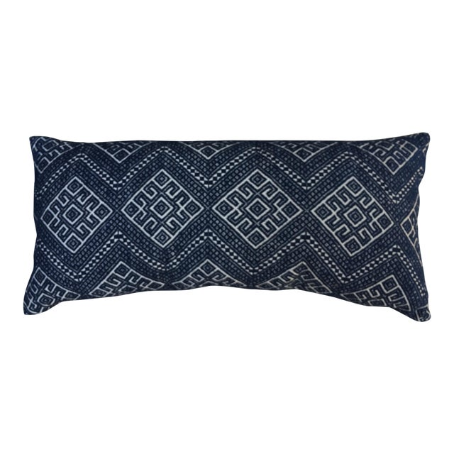 Antique Hand Woven Wedding Quilt Pillow - Image 1 of 6
