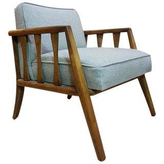 Sculptural Walnut Lounge Chair