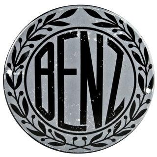 Vintage French Enamel Mercedes Benz Radiator Badge