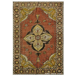 Vintage Turkish Oushak Rug - 4'2''x6'1''