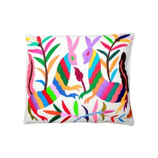 Hand-Woven Tenango Pillow - Pair