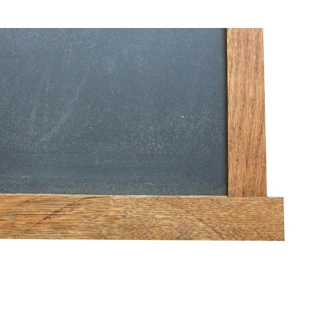 Slate Chalkboard with Oak Frame - Image 2 of 3