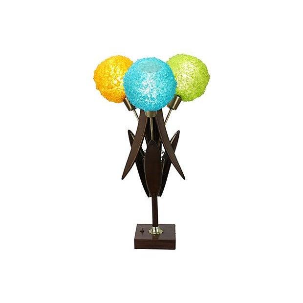 Image of Mid-Century Modern Multicolor Spaghetti Shade Lamp