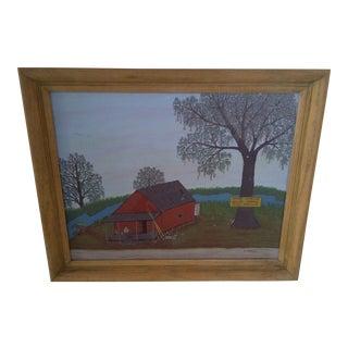 "B.J. Helburn ""The Bait Shop"" Original Painting"