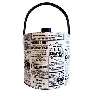 1880s Newspaper Design Ice Bucket