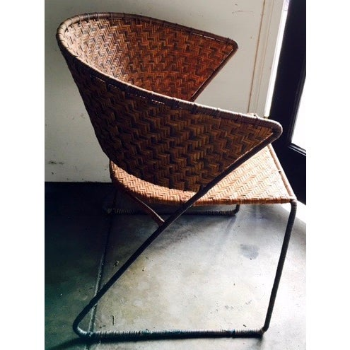 French Woven Side Chairs - A Pair - Image 3 of 5