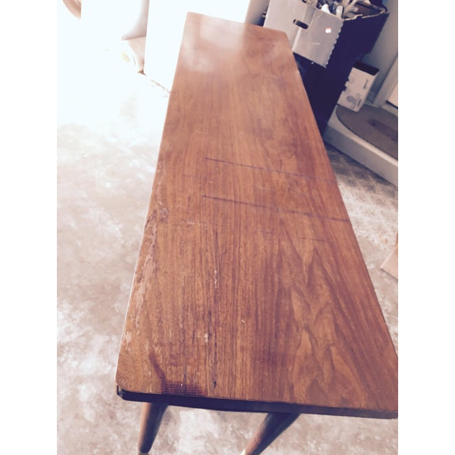 Mid-Century Modern Credenza Buffet Console Floating Top Legs - Image 8 of 10
