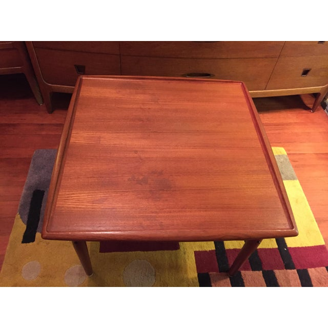 Grete Jalk Danish Modern Teak Square Coffee Table | Chairish
