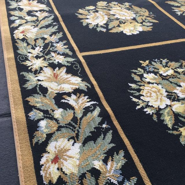 Stark Floral Motif Area Rug - 11′2″ × 14′6″ - Image 10 of 10