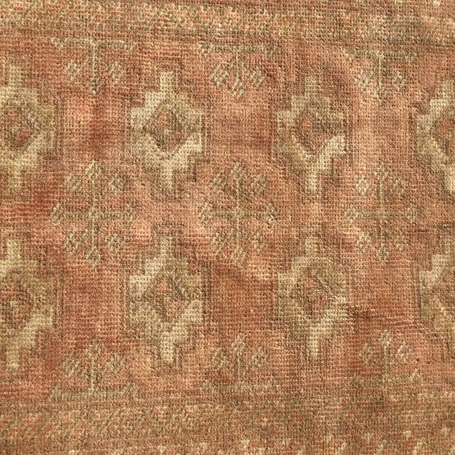 "Vintage Turkaman Brown Persian Rug - 2' x 2'11"" - Image 6 of 8"