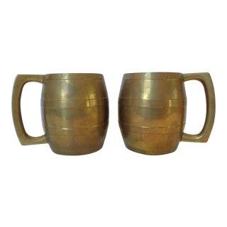 Brass Moscow Mule Mugs - Pair