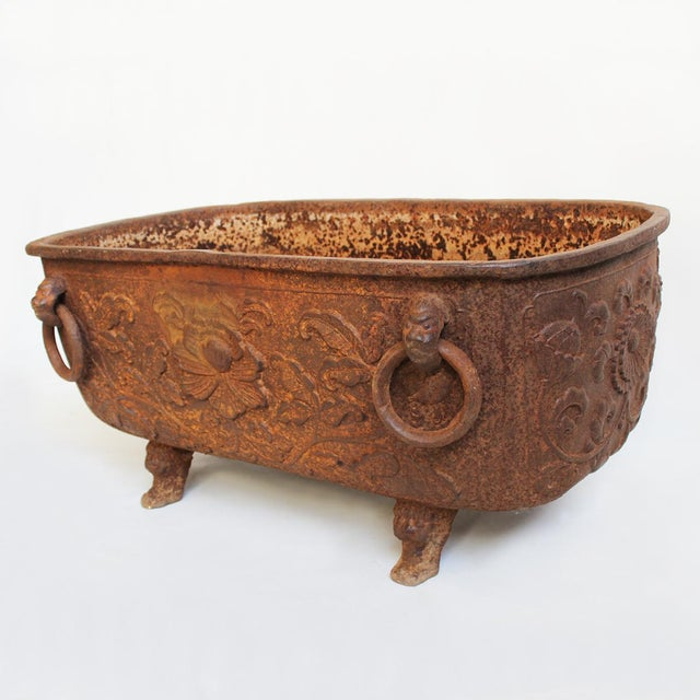 Cast iron chinese fire bowl chairish