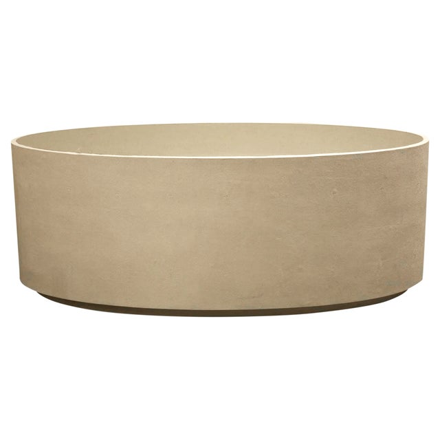 Mg Cara Faux Shagreen Oval Coffee Table Chairish