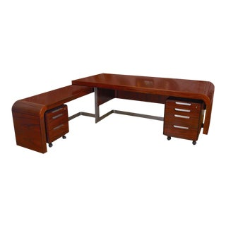 Modern Custom Rosewood Desk Suite
