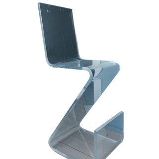 Lucite Acrylic Z Bar Stools -- A Pair