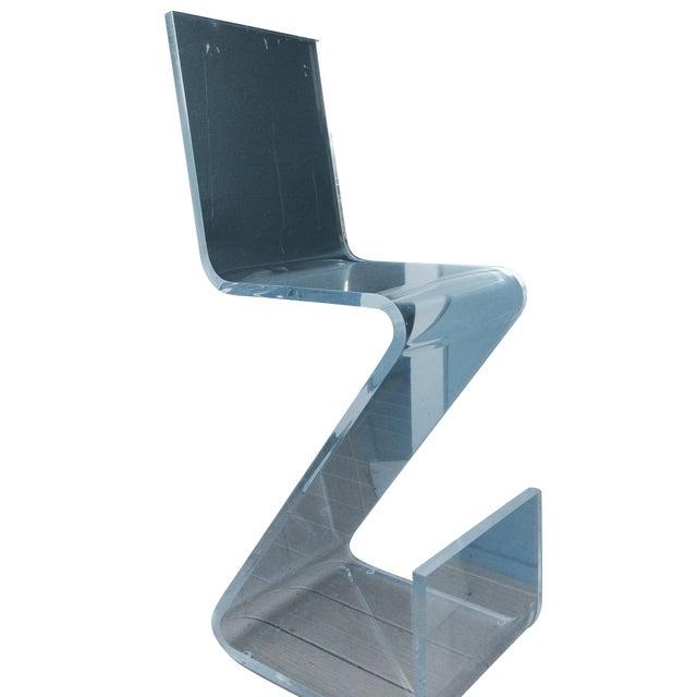 Lucite Acrylic Z Bar Stools A Pair Chairish