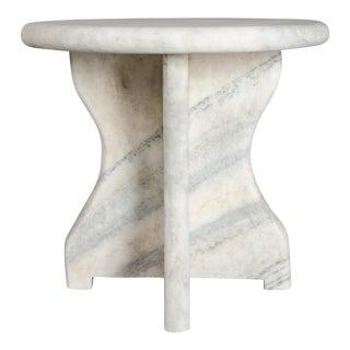 Mallet Design Table - Han Bai Yu (White Marble)