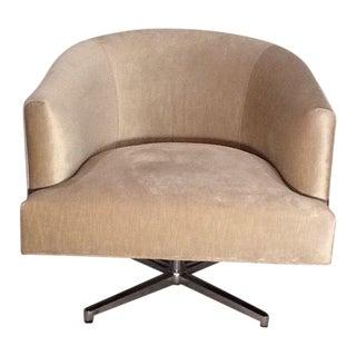 Abc Carpet & Home Upholstered Swivel Chair