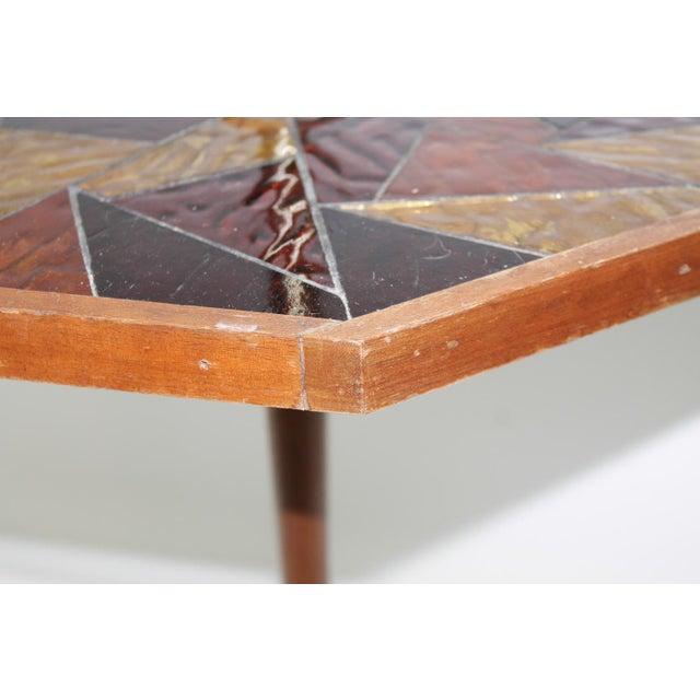 Mid-Century Georges Briard Mosaic Floor Lamp Table - Image 6 of 10