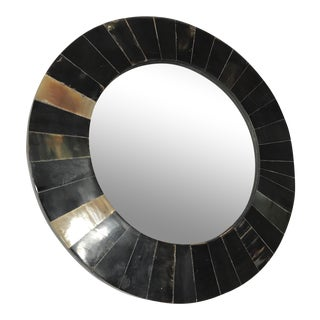 Contemporary Round Horn Mirror