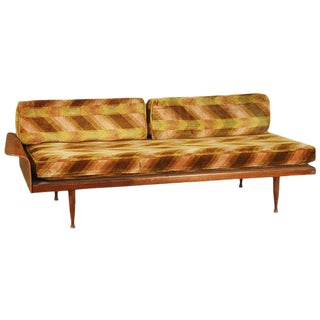 Danish Modern Teak Daybed with Fan Arm
