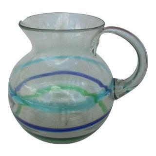 Stripe Clear Glass Pitcher