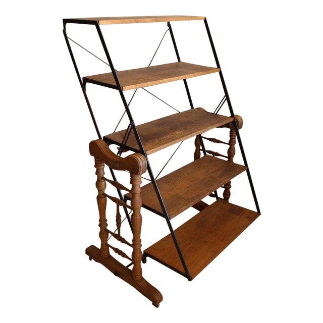 Yesbera Antique Baker Tilt Table/Shelving Unit - Image 1 of 8